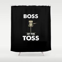 Disc Golf - Boss of the Toss Shower Curtain