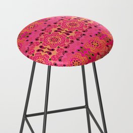 Pink Haze Bandana Ombre' Stripe Bar Stool