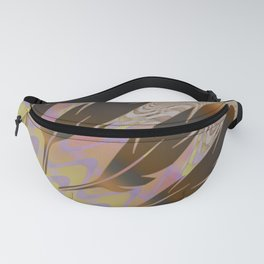 Boho Feather Sun and Wavy Lines Fanny Pack