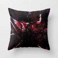dark souls Throw Pillows featuring SOULS by La Belle Noire