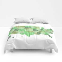 United States Map - Green Comforters