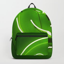 GREEN SMILE NEON SIGN Backpack