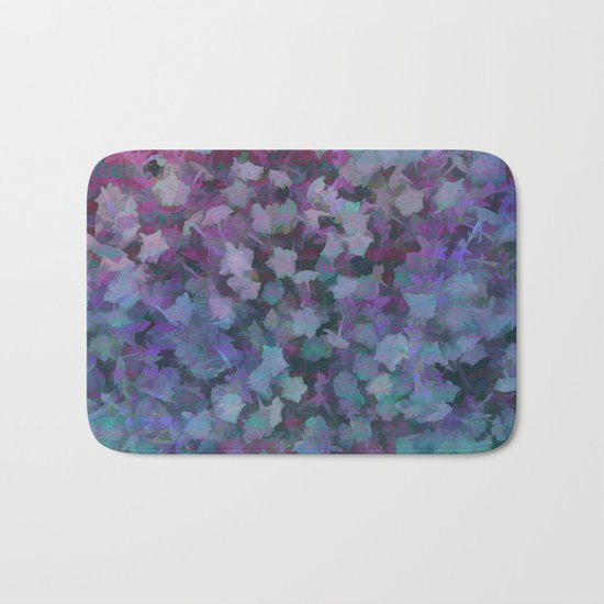 Colorful Flower Music Bath Mat