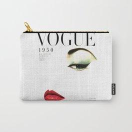 Fashion Print Gift Women Vogue Print Vogue Cover vogue cover 1950 Fashionista Fashion Decor Wall art Carry-All Pouch