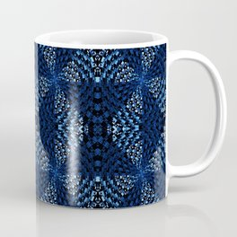 Indigo Blues Geometric Magic Quilt Print Coffee Mug