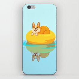 Summer Corgi iPhone Skin