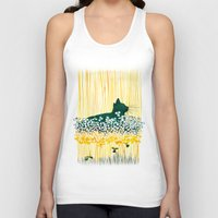 clover Tank Tops featuring Clover Cat by Priscilla Moore