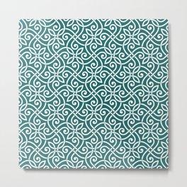 Abstract Arabesque ornament doodles line art hand drawn  illustration pattern Metal Print