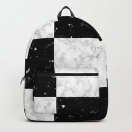 Elegant black white marble Backpack