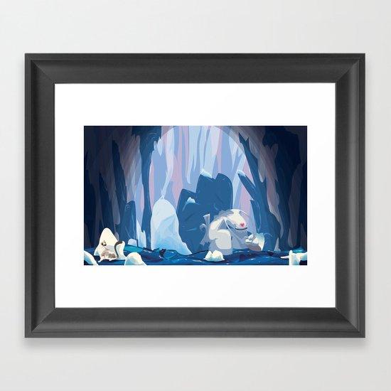 inside iceberg Framed Art Print