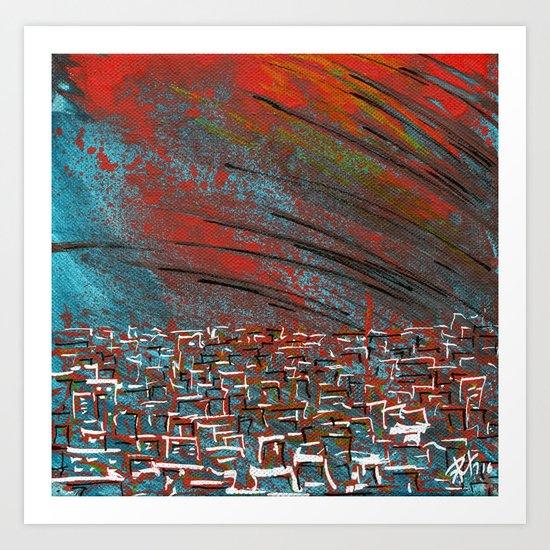 La ciudad de la furia Art Print