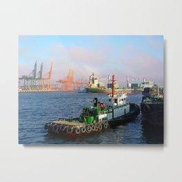 Busan port Metal Print