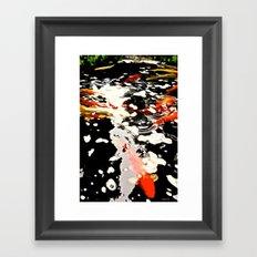 Koi Pool Framed Art Print