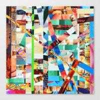 bianca green Canvas Prints featuring Bianca (stripes 22) by Wayne Edson Bryan