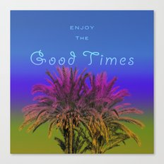 Good Times in Blue Canvas Print
