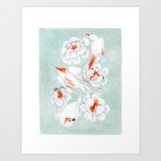 3 oiseaux Art Print