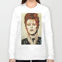 david bowie Long Sleeve T-shirts featuring Bowie by Taylor Bellah