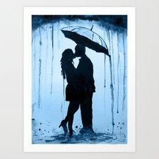 Evening kiss Art Print