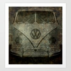 VW Zombiemobile - A killer Zombie bus Art Print