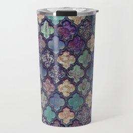 Moroccan Tile Design In Retro Colors Travel Mug