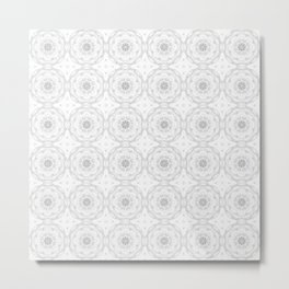 Gray Charcoal Floral Metal Print