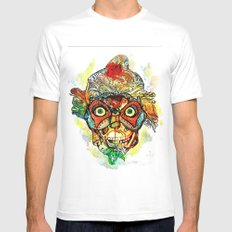 masked MEDIUM Mens Fitted Tee White