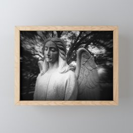 Crying Angel Framed Mini Art Print
