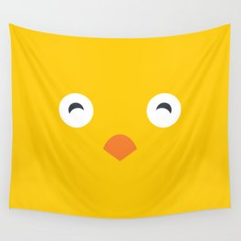 Yellow Chick Wall Tapestry
