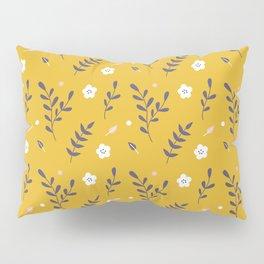 Mustard Floral Pattern Pillow Sham