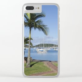 Boats in the Bay Clear iPhone Case