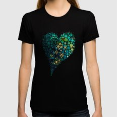Peacock Womens Fitted Tee Black SMALL