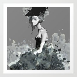 Lady in Lace Art Print