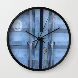 Shipping Container Doors Wall Clock