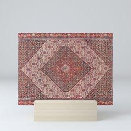 Sehna Antique Kurdish Persian Tribal Rug Print Mini Art Print