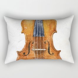 Violin (watercolor on textured background) Rectangular Pillow