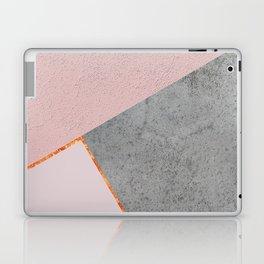 BLUSH GRAY COPPER GEOMETRICAL Laptop & iPad Skin