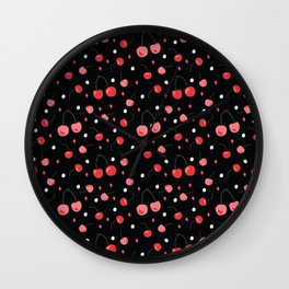 Cherry Print Wall Clock