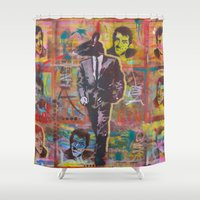 dino Shower Curtains featuring Dino by Bobby Doran
