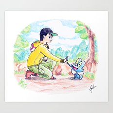 Journey to be the very best! Art Print