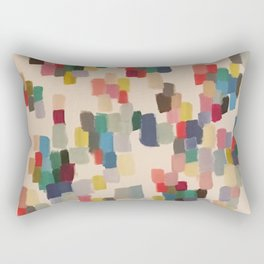 Colorful happy cheerful abstract painting Rectangular Pillow