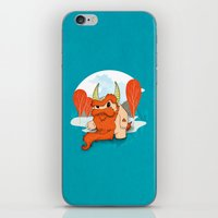 pixies iPhone & iPod Skins featuring Graggy, the plump Happy Chaos Monster of Scotland by Roxie Rose Design