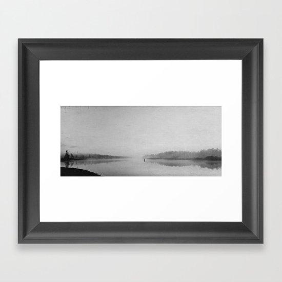 a quiet day Framed Art Print