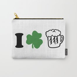 St Patricks Day I Love Beer Irish Ireland Gift Carry-All Pouch