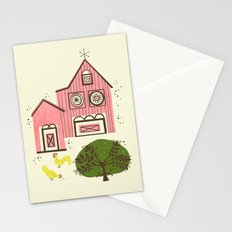 Farm House Pink Stationery Cards
