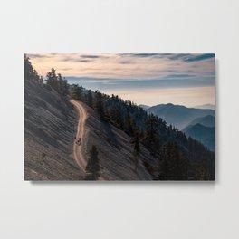 A Mountain Top View Metal Print