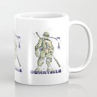 teenage mutant ninja turtles Mugs featuring Donatello, Teenage Mutant Ninja Turtles by Carma Zoe