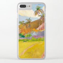 Tahitian Landscape by Paul Gauguin Clear iPhone Case