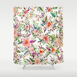 INCOGNITO INTROVERT Tropical Colorful Floral Shower Curtain