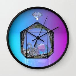 Crystal Terrarium Wall Clock