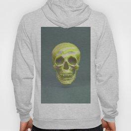 Yellow pop candy skull 3D render. Hoody